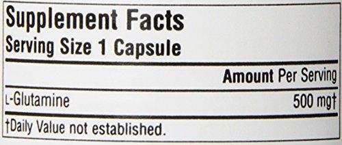 Source Naturals L Glutamine 500mg Free Form Amino Acid 50 Capsules
