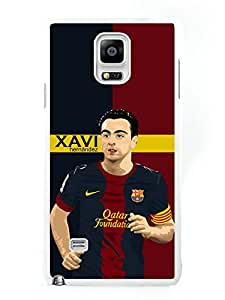 Custom Xavi Hernandez White Phone Case For Samsung Galaxy Note 4 Cover Case