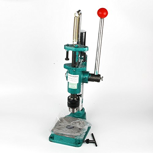 NW Manual press Puncher Hand Punching Machine Manual Punch Punching Press Hand Machine Punch Tool Hole-Punch Machine (Round, With clamping chuck)