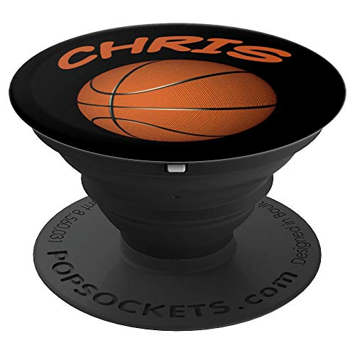 Personalized Name CHRIS Basketball - PopSockets Grip and Stand for Phones and Tablets