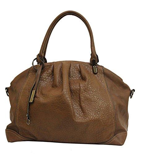 Exclusive Handtasche in Brauntönen aus hochertigem Kunstleder hohe Qualität