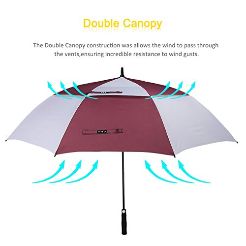ZOMAKE Golf Umbrella Windproof Large 68 inch Double Canopy Automatic Open Umbrella for Men - Vented Sun Umbrella - Stick Umbrellas