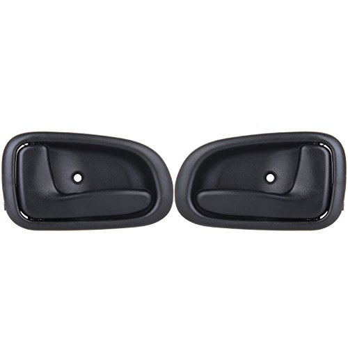 - cciyu Door Handles Interior Inside Inner Driver Passenger Side Replacement Replacement fit for 1993-1997 Geo Prizm Toyota Corolla 692051213004 Black(2pcs)