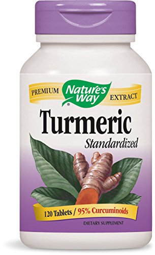 Nature's Way Standardized Turmeric; 95% Curcuminoids; TRU-ID Certified; Vegetarian, 120 Tablets (Extract Way Natures)