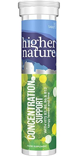 Concentration Support - For mental performance and the nervous system - 10 tablets - Higher Nature by Higher Nature by Higher Nature