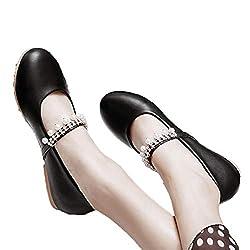 Non Slip Pearl Crystal Ballet Flats