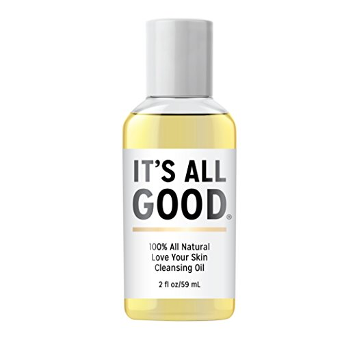 It's All Good Love Your Skin 100% Natural 2 in 1 Deep Cleansing Facial Oil | Non-stripping Oil & Makeup Remover for All Skin Types | Antioxidant, Toxin, Paraben, Gluten & Cruelty free Formula, Vegan