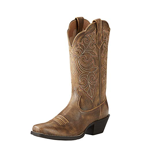 - Ariat Womens Round up Square Toe Western Boot Performance 8.5 C Vintage Bomber