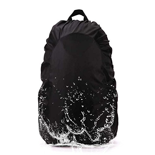 AYAMAYA Camping Backpack Rain Cover, 45-65L Waterproof Backpack Elastic Water Cover Rucksack Water-Resist Dustproof Cover Hiking Camping Traveling -Black