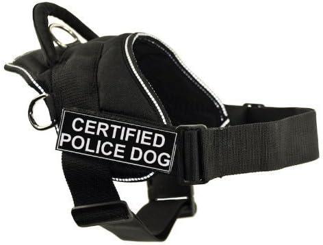 Dean & Tyler DT Fun Obras arnés, Certificado Perro Policía, Negro ...