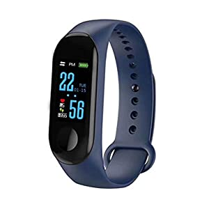 Best fitness trackers N ZGZRONG Blue Fitness Tracker, Health Tracker Color Screen Sport