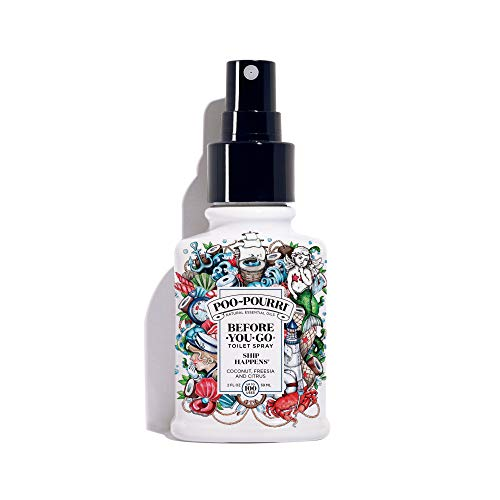 (Poo-Pourri Before-You-Go Toilet Spray 2 oz Bottle, Ship Happens Scent)