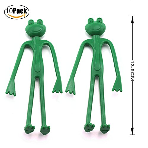 Magic&Shell 10pcs Decorative Plant Tie Twist Bendable Reusable Plant Cable Ties Twisting Garden Tie Frog by Magic&Shell
