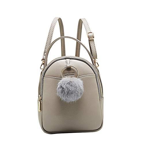 Nouveau À Mode Mini À Femmes À Coréen gray Dos Sac Bandoulière Portable Dos Multifonction Portefeuille Sac Femmes Ball Cheveux Femme Sac shuangjian zwYxSvIqx