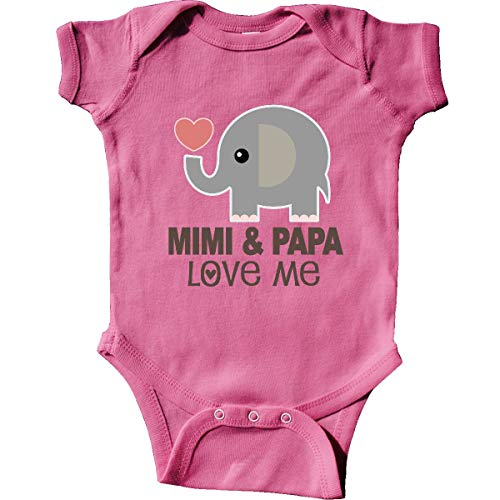 inktastic - Mimi and Papa Love Me Infant Creeper 6 Months Raspberry 33804