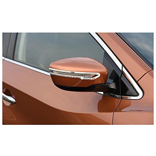 2016 2019 2020. 2015 2017 2018 2 espejos retrovisores laterales cromados para Qashqai 2014