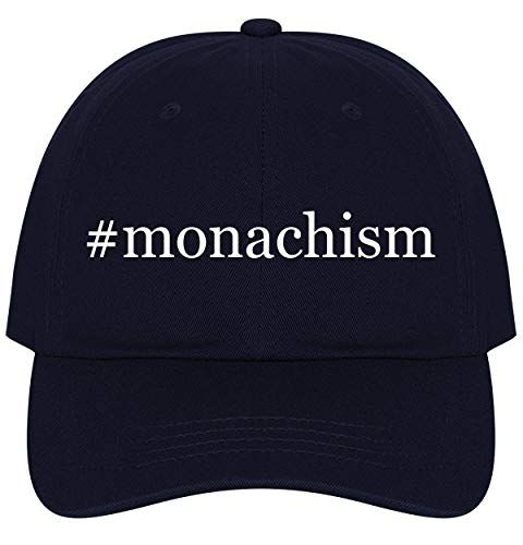 The Town Butler #Monachism - A Nice Comfortable Adjustable Hashtag Dad Hat Cap, Navy