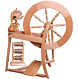 Ashford Traditional Spinning Wheel, Double Drive, Single Treadle, Natural