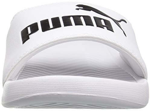 PUMA Herren Popcat Slide Sandale Puma Weiß / Puma Schwarz