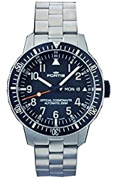 Fortis Men's 647.27.11 M B-42 Official Cosmonauts Day/Date Titanium Analog Display Automatic Self Wind Silver Watch