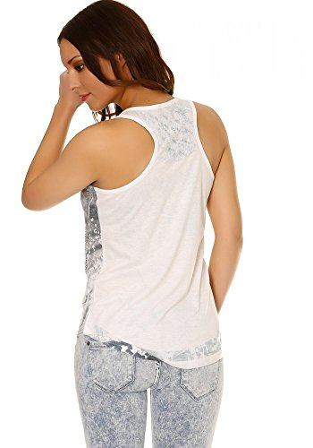 dmarkevous - Camiseta sin mangas - para mujer blanco