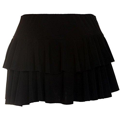Janisramone Nouveau Femme Mini Jupe ''Rara'' Jupe Courte Simple et lgante Noir