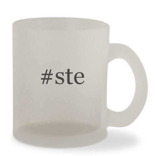 Price comparison product image ste - 10oz Hashtag Sturdy Glass Frosted Coffee Cup Mug