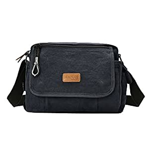 Genda 2Archer Men's Small Crossbody Everyday Handbag Sling Canvas Shoulder Bag One Size Blue Black