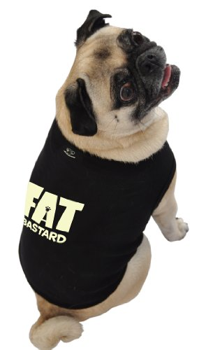 Fat Bastard Costumes (Ruff Ruff and Meow Dog Tank Top, Fat Bastard, Black, Extra-Large)