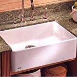 "Best franke fireclay sink - Franke MHK-110-24 Manor House 23-5/8"" x 19-3/4"" Single Review"
