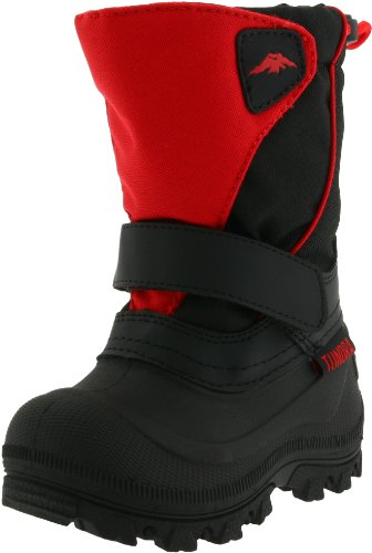 Tundra Quebec Wide Boot (Toddler/Little Kid/Big Kid),Black/Red,9 M US Toddler by Tundra