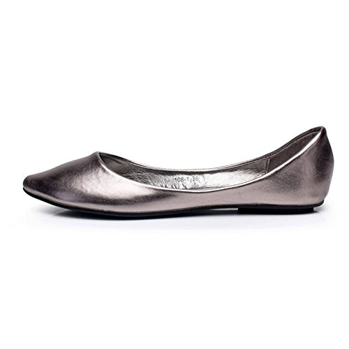 Pumps Comfy Shiny 2015 Womens Gray match New Flat All Fereshte Hnaqw7Rx8x
