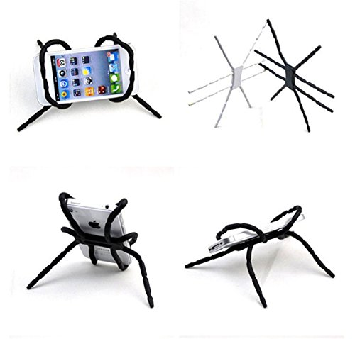 Misskt Universal Phone Car Holder 2pcs Multi-Function Portable Spider Flexible Grip Holder for Smartphones and Tablets, for Ipod Iphone 4/4s/5/5s/6s/7/7s Samsung Galaxy Andriod Mp4