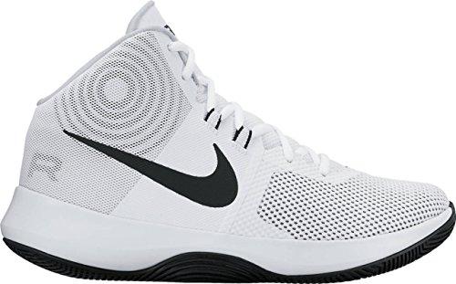 Scarpa Da Basket Nike Uomo Air Precision Bianco / Nero / Platino Puro-m