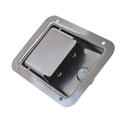 Chengstore Car Stainless Steel Trailer Toolbox Lock Door Lock in-Line Lock Tool Tear Drop Latch Stainless Steel Box Lock Stainless Steel Paddle Latch by Chengstore (Image #1)