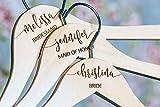 Personalized Wedding Hangers - For Wedding Dress and Bridesmaid Dress - Custom Wooden Engraved Hanger - Bridal Dress Hangers - Name Hangers HG100