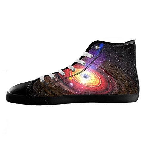Chaussures Universelles De Toile De Womens De Plat De Coutume Les Lacets Chaussures Baskets Montantes