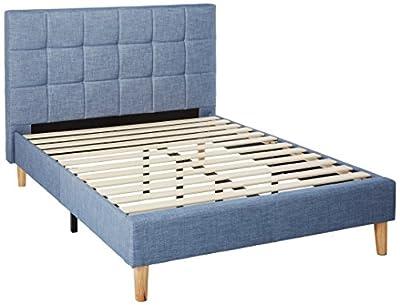 Zinus Upholstered Square Stitched Platform Bed