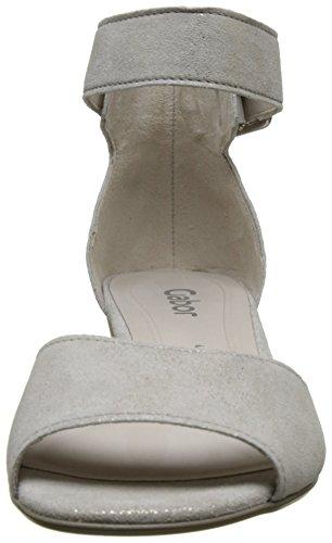 Gabor Shoes Fashion, Sandalias con Cuña para Mujer Rosa (puder 61)