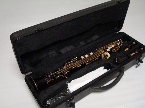 Professional Black Gold Soprano Straight Saxophone Sax by OPUS USA (Image #2)