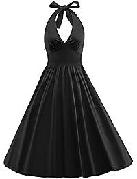 Women's 1950s Vintage Marilyn Monroe Rockabilly Large Swing Dress