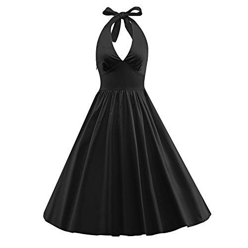 b2523d18683 iLover Classy Vintage Audrey Hepburn Style 1950 s Rockabilly Swing Evening  Dress