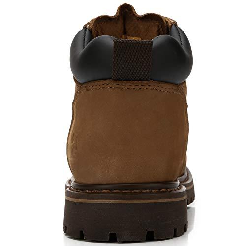 Uomo Classici Marrone Inverno Crown Stivali Camel Chukka Scuro Stivaletti Stringate Pelle Impermeabile qgUYftw