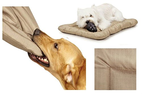 Heavy Duty Chew Resistant Crate Mats for Dogs Reinforced Megaruffs Dog Beds (Large - 41¾''L x 27¾''W) by Slumber Pet