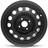 Road Ready Car Wheel For 1993-2002 Toyota Corolla 14 Inch 4 Lug Black Steel Rim Fits R14 Tire - Exact OEM Replacement - Full-Size Spare