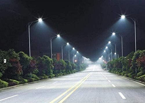 LED Solar Security Lights Outdoor 50W LED IP65 Street Light Racquet Shape Outdoor Road Lamp AC85-265V,Energy Conservation mei