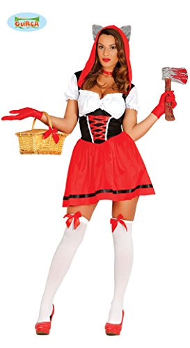Guirca Adult Womens Little Red Riding Hood Wolf Hunter Costume ~ Small