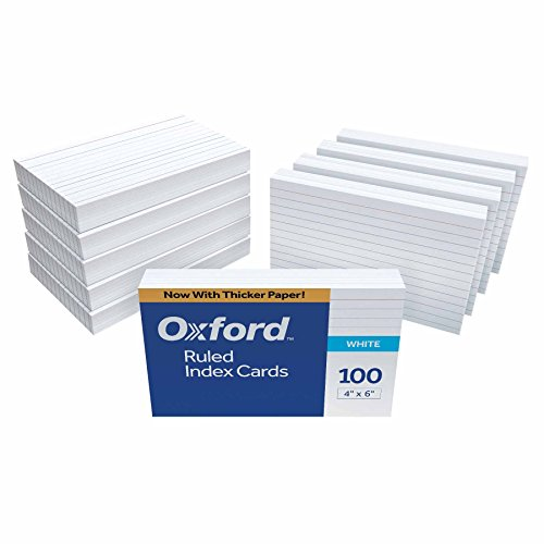 "Oxford Ruled Index Cards, 4"" x 6"", White, 1,000 Cards"