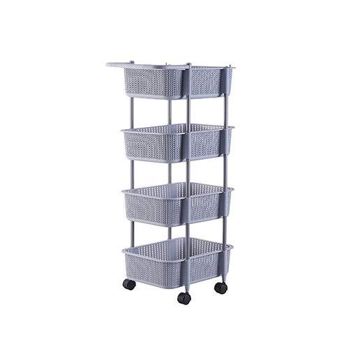 Cesta de almacenamiento multicapa-cesta de almacenamiento de múltiples capas de cocina, estante de piso de baño, cesta de...