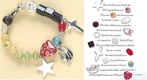 Religious Glass Beaded Christ's Story Bracelet
